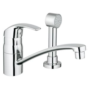 Grohe Eurosmart® Single Lever Handle Centerset Kitchen Faucet with Side Spray G31134
