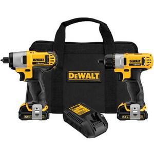 DEWALT 12 V Cordless Screwdriver Impact Drive Combo Kit DDCK210S2