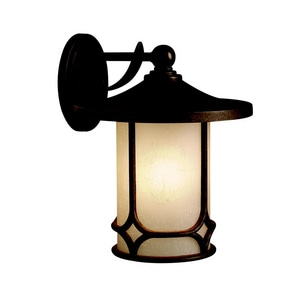 Kichler Lighting Chicago 13-1/2 in. 150 W 1-Light Medium Lantern in Aged Bronze KK9367AGZ
