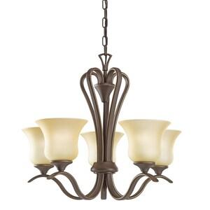 Kichler Lighting Wedgeport™ 17-1/2 in. 100 W 5-Light Incandescent Medium Chandelier KK2085