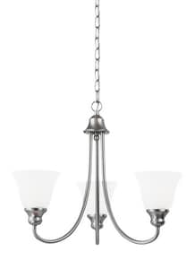 Seagull Lighting Windgate 54-3/8 in. 100 W 3-Light Medium Chandelier S35939