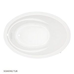 Mirabelle Galatia® 72 x 42 in. Acrylic Oval Bath Tub MIRGAS7242V