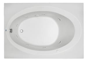 PROFLO® 19-1/2 x 60 x 42 in. 45 gal Drop-In Bathtub with End Hand Drain PFS6042AV