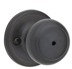 kwikset cove bed bath privacy door knob in venetian bronze 300cv
