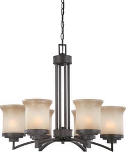Nuvo Lighting Harmony 60 W 6-Light Medium Chandelier N604125
