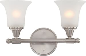 Nuvo Lighting Surrey 10-1/4 in. 100W 2-Light Vanity Light Fixture in Brushed Nickel N604142