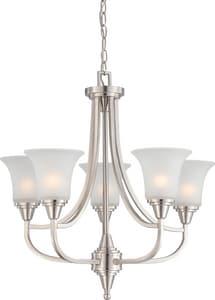 Nuvo Lighting Surrey 24-1/4 in. 60W 5-Light Medium Incandescent Chandelier in Brushed Nickel N604146