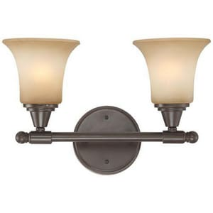 Nuvo Lighting Surrey 6-3/4 in. 100 W 2-Light Medium Bracket in Vintage Bronze N604162