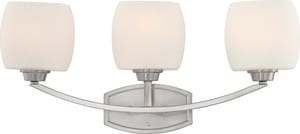 Nuvo Lighting Helium 3 Light 100W Satin White Glass Vanity N604183