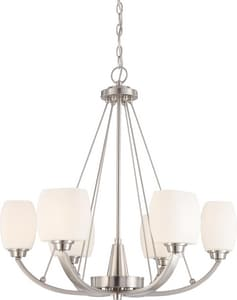 Nuvo Lighting Helium 6 Light 60W Chandelier N604186