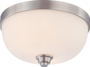 Nuvo Lighting Helium 60W 2-Light Medium Base Flush Mount Light Fixture N604192