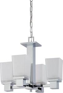 Nuvo Lighting Parker 60W 4-Light Medium Incandescent Chandelier with Sandstone Etched Glass N604005