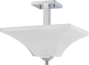 Nuvo Lighting Parker 60W 2-Light Medium Incandescent Semi-Flush Ceiling Light with Sandstone Etched Glass N604007