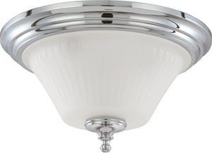 Nuvo Lighting Teller 60W 3-Light Flushmount Dome Ceiling Fixture N604272