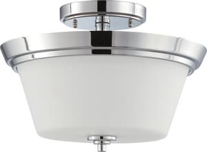 Nuvo Lighting Empire 60W 2-Light Medium Base Incandescent Semi-Flush Mount Ceiling Light N604087