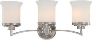 Nuvo Lighting Harmony 10-1/4 in. 100W 3-Light Vanity Light Fixture in Brushed Nickel N604103