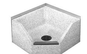 Acorn Engineering Terrazzo Round Corner Mop Sink in Polished Chrome ATCR28