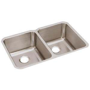 Elkay Harmony™ 31-1/4 x 20 x 9-7/8 in. Double Bowl Under-Mount Sink EELUH322010
