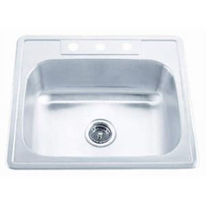 PROFLO® Bealeton 25 x 22 in. 22 ga Single Bowl 3 Hole PFSR2522653