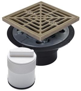 Sioux Chief 2 in. Shower Pan Drain with Ring and Strainer S821T200ANQ