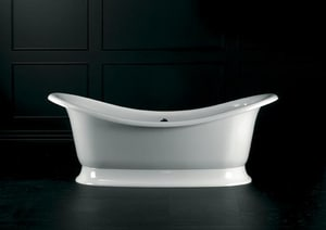 Victoria & Albert Bath Marlborough Double Ended Slipper Tub in White NLBVMARNSW