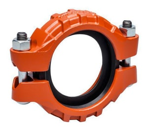 Victaulic Grooved Painted Ductile Iron Coupling with Enamel Gasket VL177PE0