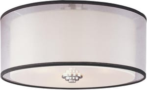 Maxim Lighting International Orion 7 x 15 in. 60 W 3-Light Medium Flush Mount Ceiling Fixture M23031SWSN