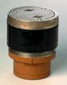 Jay R. Smith Manufacturing Twis-To-Floor® Floor Cleanout No-Hub Nickel Bronze S4020SNS