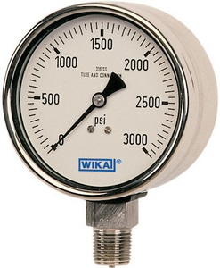 Wika Instrument Bourdon 2-12/25 in. Liquid Filled Industrial Gauge W9251