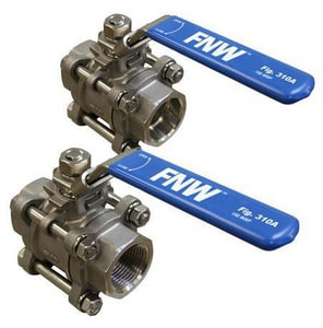 FNW 1000 CWP 3-Piece Stainless Steel Socket Weld Full Port Ball Valve FNW310ASWG