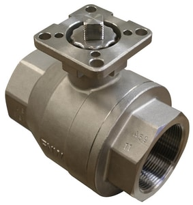 FNW 2-Piece Stainless Steel Threaded Full Port Isolation Ball Valve FNW220AM