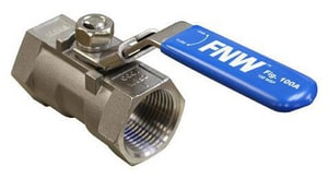 FNW 1000# 1-Piece Stainless Steel Threaded Reduced Port Ball Valve with Latch Lock Lever FNW100A