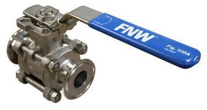FNW 400# Stainless Steel Sanitary Clamp End Ball Valve FNW330A