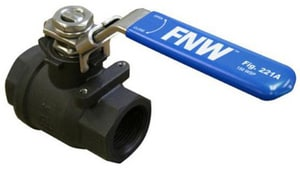 FNW 1500# 2-Piece Carbon Steel Threaded Full Port Ball Valve with Latch Lock Lever FNW221A