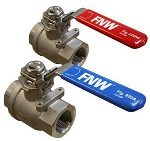 FNW 2-Piece Stainless Steel Full Port Ball Valve FNW220AC