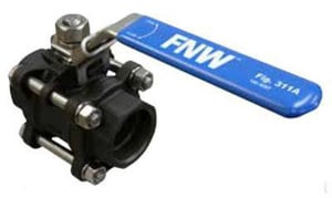 FNW 1000# Threaded x Socket Weld Carbon Steel Full Port Ball Valve with Latch Lock Lever FNW311ASW