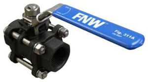 FNW 1000# 3-Piece Carbon Steel Threaded Full Port Ball Valve with Latch Lock Lever FNW311A