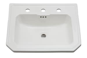 Mirabelle® Amberley® 22-3/8 x 18-5/8 in. Drop-In Lavatory with 8 in. Center MIRAM458