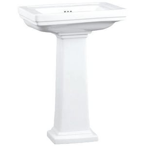 Mirabelle® Key West 3-Hole Pedestal Bathroom Sink MIRKW354A