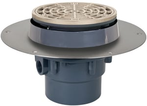 Sioux Chief Halo Drain™ 3 in. Round Adjustable Floor Drain with Hub S822F3PNR
