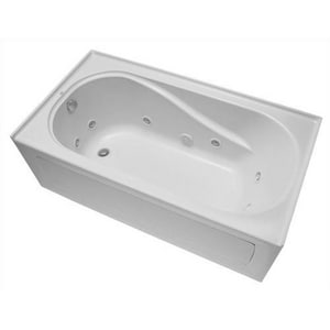 Mirabelle® Provincetown® 60 x 32 in. 3-Wall Alcove Whirlpools with Right-Hand Drain MIRPRW6032R