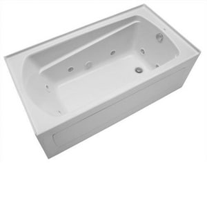 Mirabelle® Bradenton® 60 x 32 in. 3-Wall Alcove Whirlpools with Left-Hand Drain MIRBDW6032L
