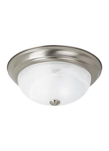 Seagull Lighting Windgate 4-1/2 in. 100 W 1-Light Medium Flush Mount Ceiling Fixture S75940