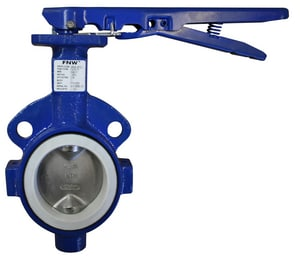 FNW 762 Series Cast Iron PTFE-EPDM Lever Handle Butterfly Valve FNW762T