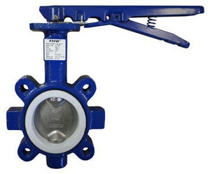 FNW 150 psi Cast Iron TFE Lug Butterfly Valve Gear Operator FNW762TG