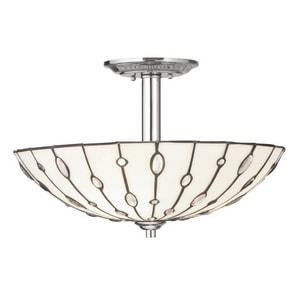 Kichler Lighting Cloudburst 100 W 3-Light Semi-Flush Mount Ceiling Fixture in White KK65331