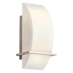 Kichler Lighting Crescent View 60 W 2-Light Wall Sconce in Brushed Nickel KK45217NI