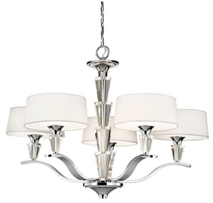 Kichler Lighting Crystal Persuasion™ 21 in. 60 W 5-Light Chandelier in Polished Chrome KK42030CH