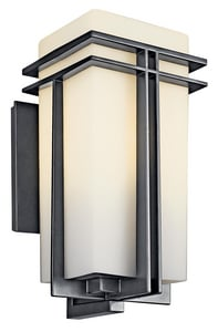 Kichler Lighting Tremillo™ 18W 1-Light Outdoor Wall Lantern in Black KK49202BKFL