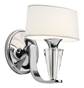 Kichler Lighting Crystal Persuasion™ 60 W 1-Light Sconce in Polished Chrome KK42028CH